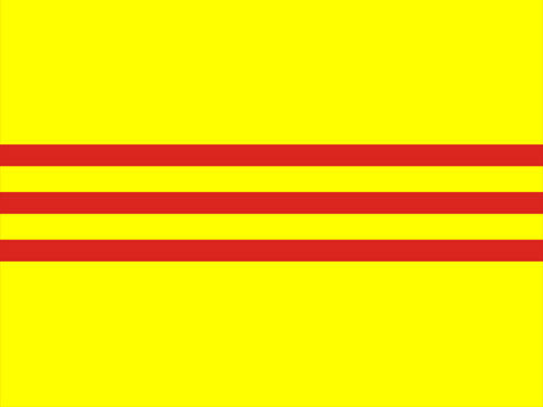 4in x 6in South Vietnam Flag with Staff and Spear