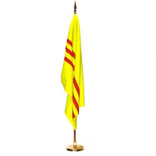 Indoor South Vietnam Ceremonial Flag Set