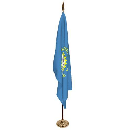 Indoor South Dakota Ceremonial Flag Set