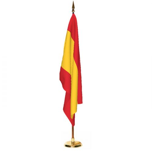 Indoor Spain Ceremonial Flag Set