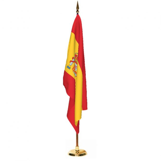 Indoor Spain with Seal Ceremonial Flag Set