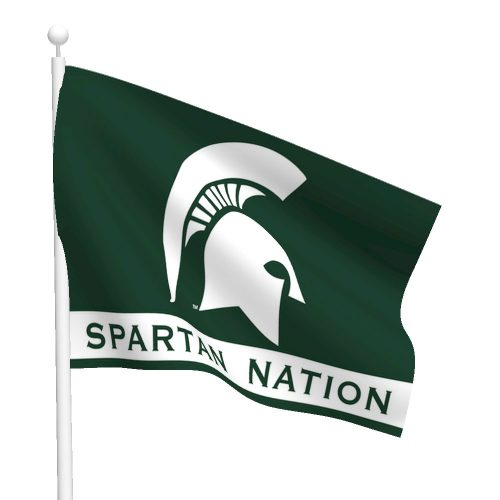 Michigan State University Polyester Spartan Flag