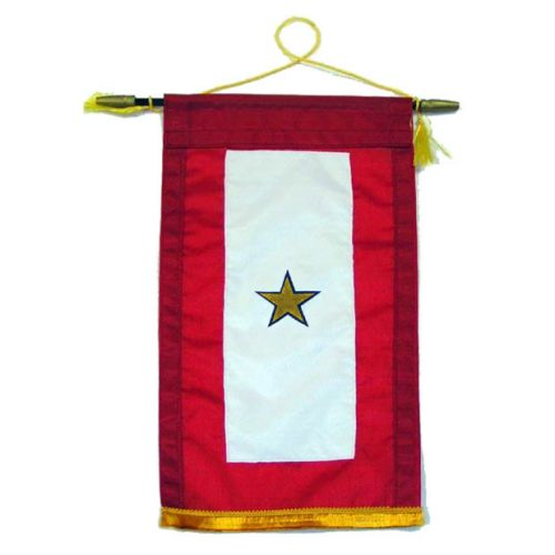 Appliqued Gold Star Banner (1 Star)