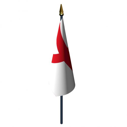 4in x 6in St. George Cross Flag with Staff and Spear