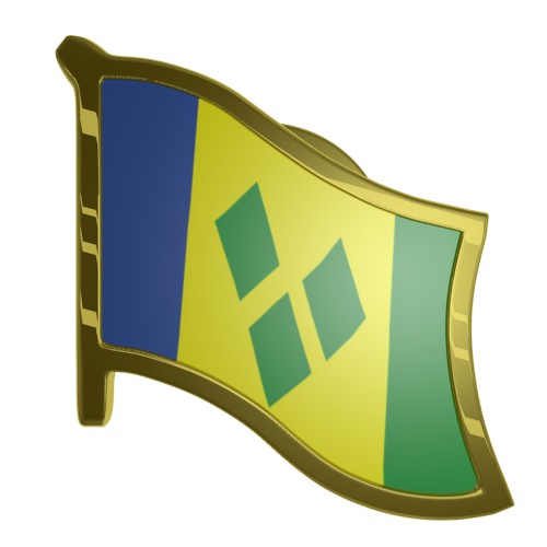 Saint Vincent and Grenadines Flag Lapel Pin