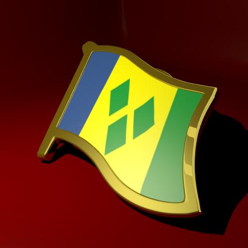 Saint Vincent and Grenadines Flag Lapel Pin