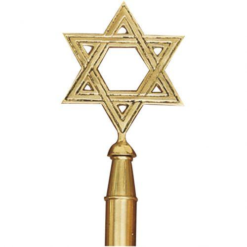 Brass Star of David Finial