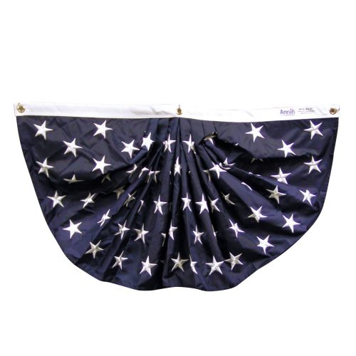 18in x 36in Nylon American Star Field Full Pleated Fan