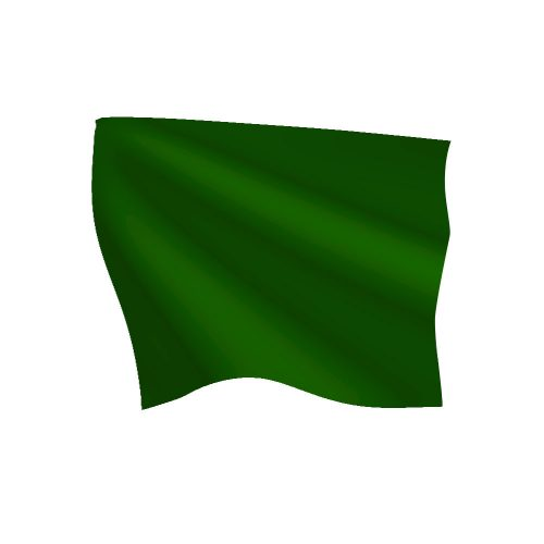 24in x 30in Green Start Flag