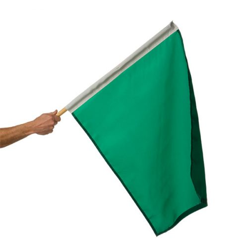 24in x 30in Mounted Green Start Flag