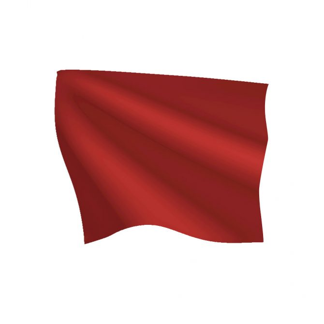24in x 30in Red Stop Flag