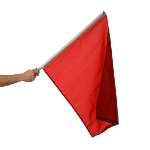 24in x 30in Mounted Red Stop Flag