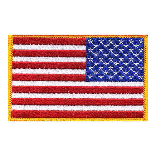 2in x 3-1/2in American Flag Right Hand Patch
