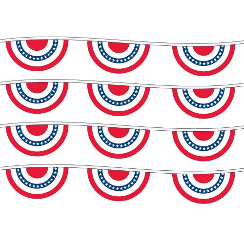 60ft of Plastic Stringed American Fans