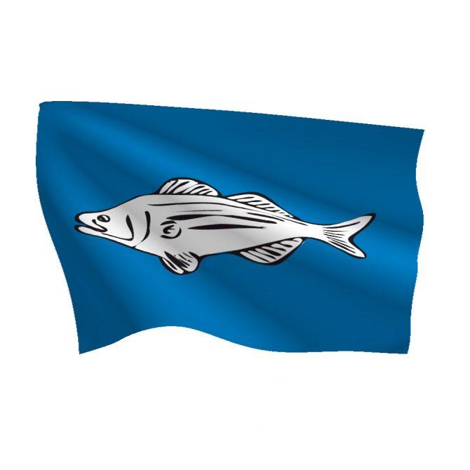 12in x 18in Striped Bass Flag