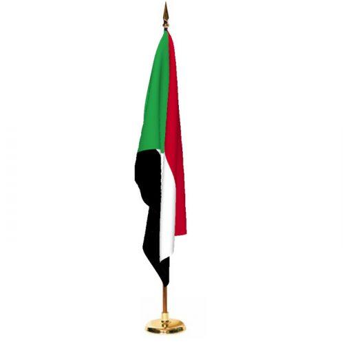 Indoor Sudan Ceremonial Flag Set