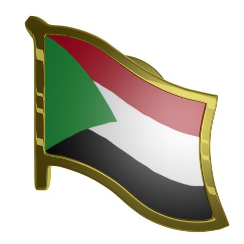 Sudan Flag Lapel Pin