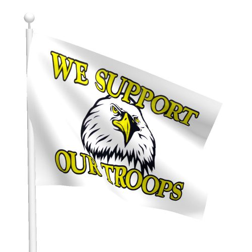 3ft x 5ft Eagle-Support Our Troops Flag