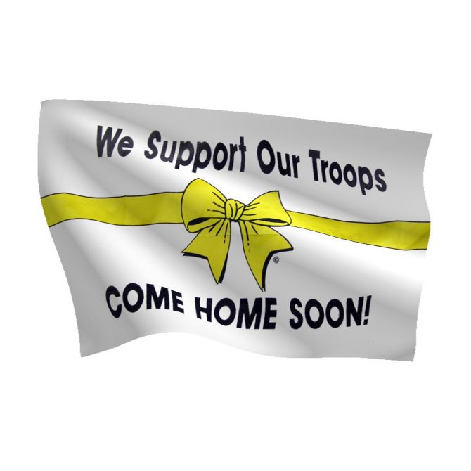 3ft x 5ft Yellow Ribbon-Come Home Soon Flag