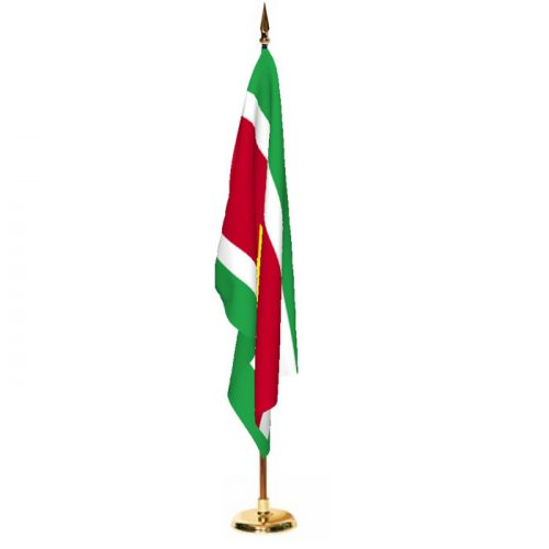 Indoor Suriname Ceremonial Flag Set