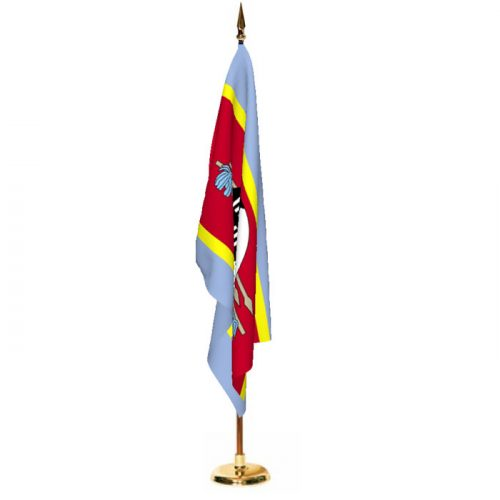 Indoor Swaziland Ceremonial Flag Set