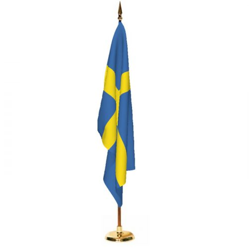 Indoor Sweden Ceremonial Flag Set