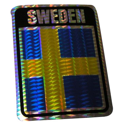 Vinyl Metallic Sweden Decal