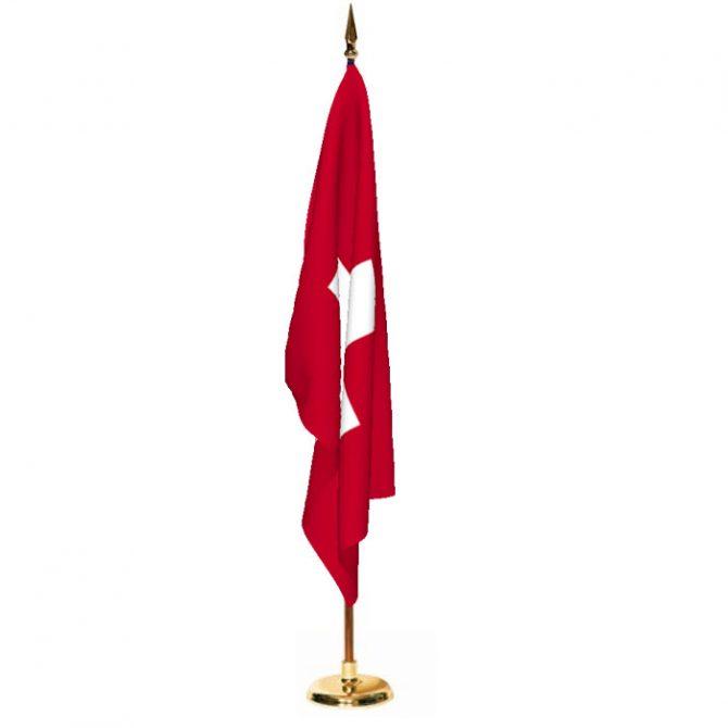 Indoor Switzerland Ceremonial Flag Set