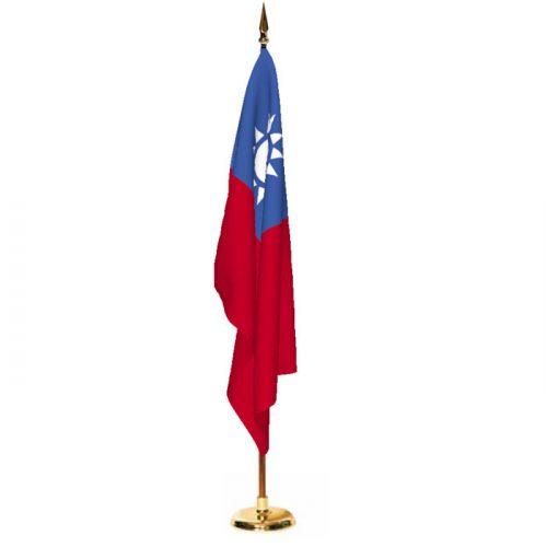 Indoor Taiwan Ceremonial Flag Set