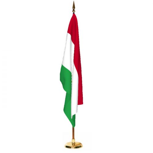 Indoor Tajikistan Ceremonial Flag Set