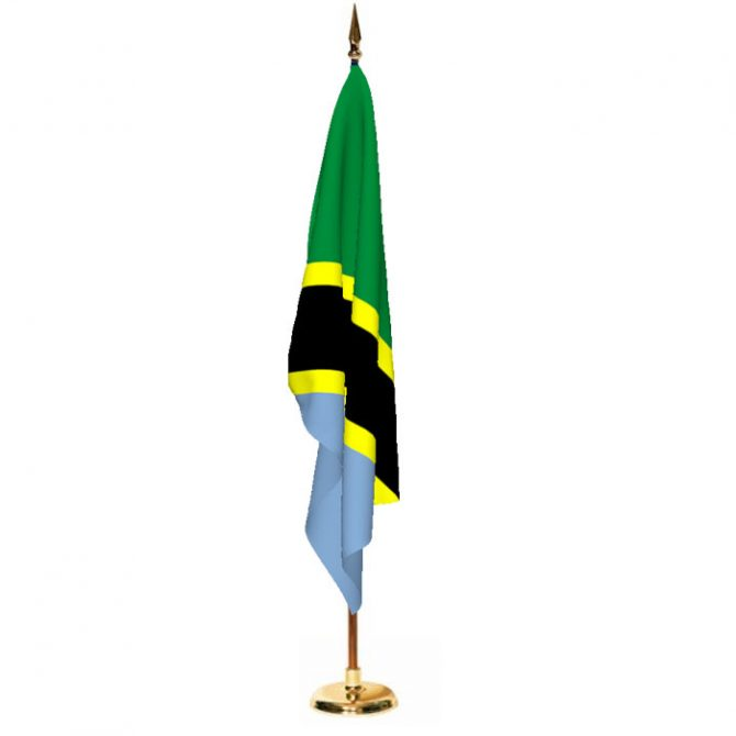 Indoor Tanzania Ceremonial Flag Set