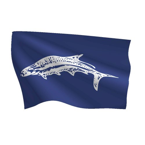 12in x 18in Tarpon Bass Flag