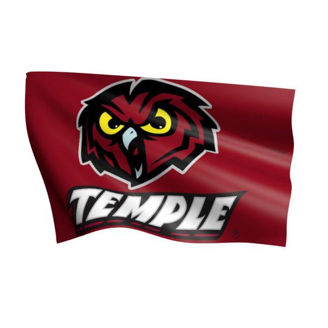 Temple University Polyester Flag