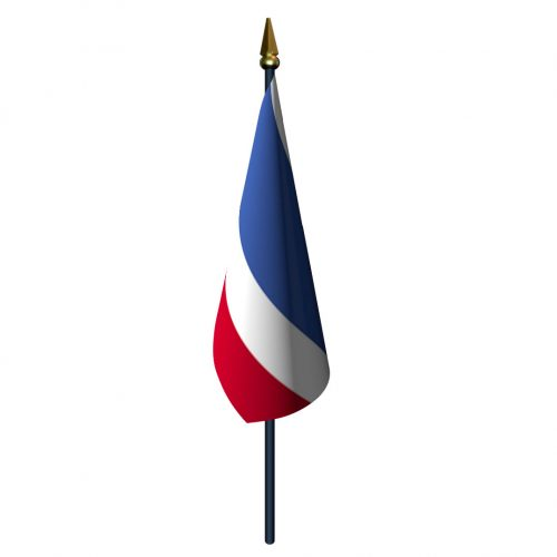 4in x 6in Thailand Flag with Staff and Spear