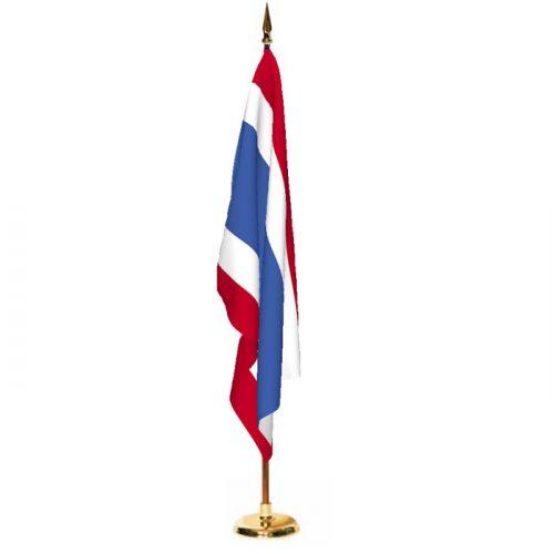 Indoor Thailand Ceremonial Flag Set