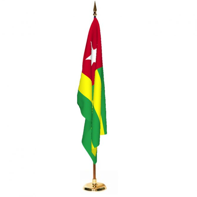 Indoor Togo Ceremonial Flag Set