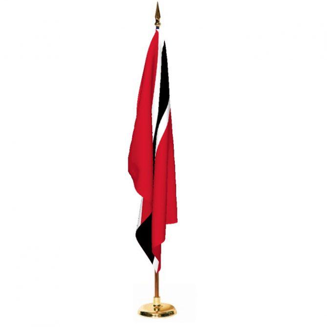 Indoor Trinidad and Tobago Ceremonial Flag Set