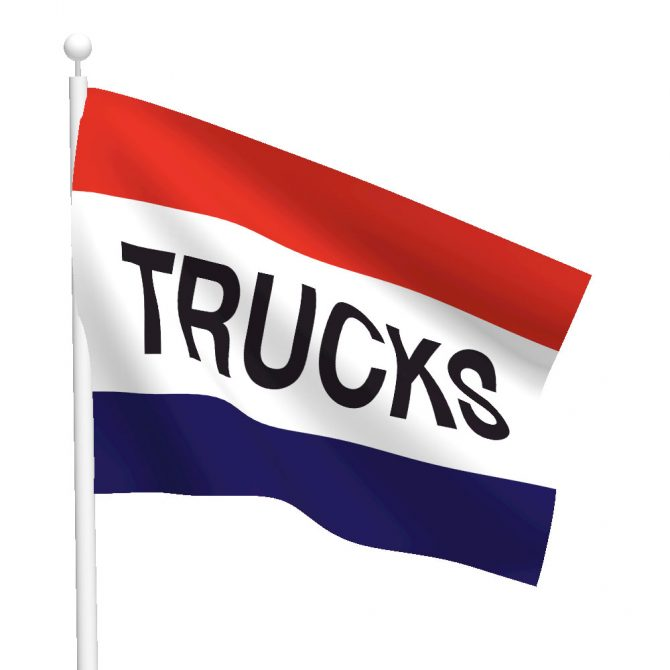 3ft x 5ft Trucks Message Flag