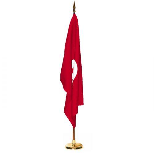 Indoor Tunisia Ceremonial Flag Set