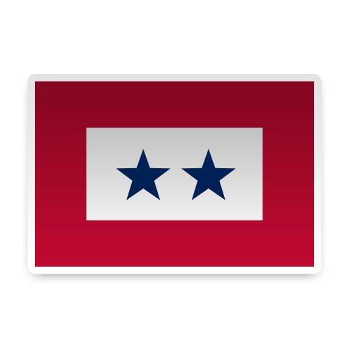 2 Blue Star Sticker