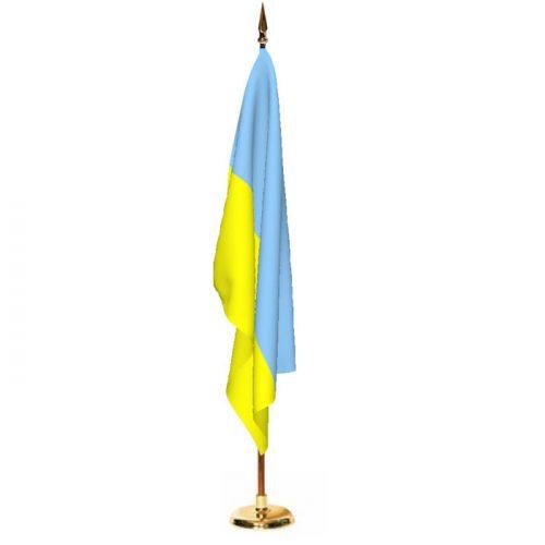 Indoor Ukraine Ceremonial Flag Set
