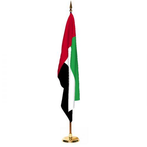 Indoor United Arab Emirates Ceremonial Flag Set