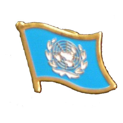 United Nations Flag Lapel Pin