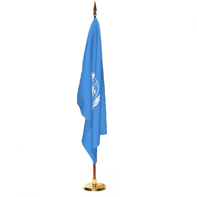 Indoor United Nations Ceremonial Flag Set