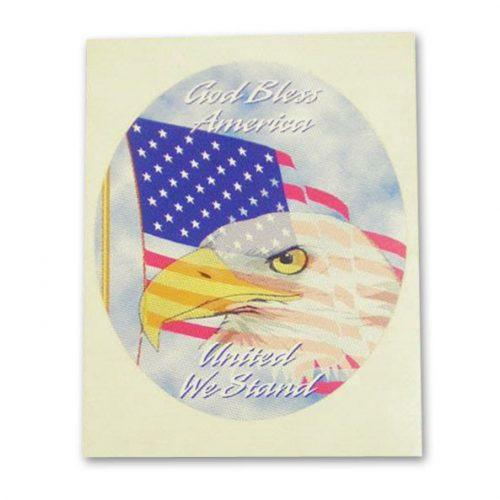 God Bless America Eagle Sticker