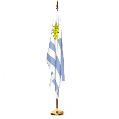 Indoor Uruguay Ceremonial Flag Set
