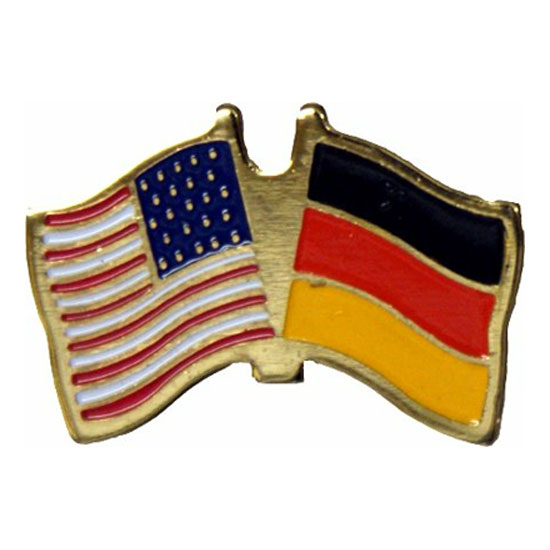 America and Germany Friendship Flag Lapel Pin