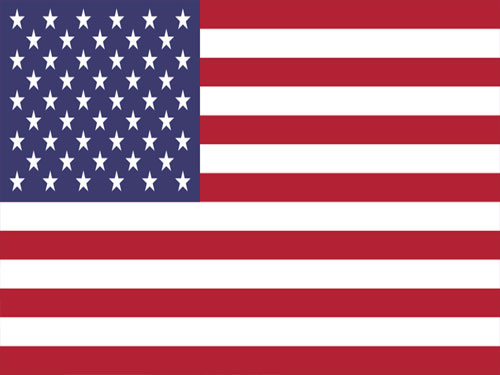 5ft x 9-1/2ft 2-Ply Polyester American Flag with Embroidered Stars, Heading and Grommets