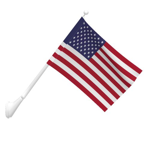 2-1/2ft x 4ft 1-Ply Polyester American Flag with Pole Sleeve