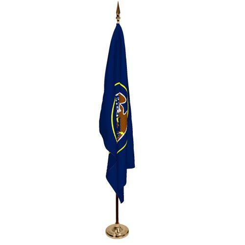 Indoor Utah Ceremonial Flag Set